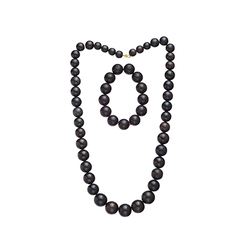 Ebony Necklace and Bracelet
